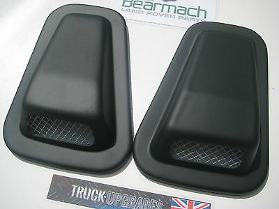 Land Rover Defender 90, 110, Air Intake Scoop Set with Mesh Fronts, BA2350,2351