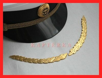 ☆ Original Russian Navy Officer Gala Parade Uniform Ornaments for Visor Cap ☆