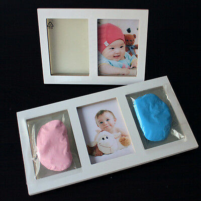 Baby New Set Cute Footprint Cast Photo Frame Foot or Hand Gift Print