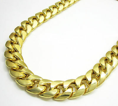 "14K Miami Cuban Link Chain Solid Gold, 8.5"" 6.9 MM 32.1 Grams Heavy Bracelet"