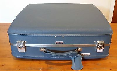 Vintage American Tourister Tri-Taper Suitcase Blue