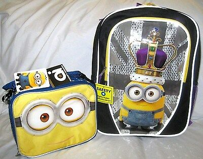 """Oops! Despicable Me 2 Minion School Roller Large 16/"""" Backpack /& Lunch Box"""