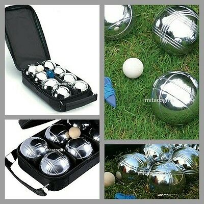 New 8 Ball Bocce /  Boule /  Petanque Ball Set with Carry Bag- 2 Patterns/2Teams