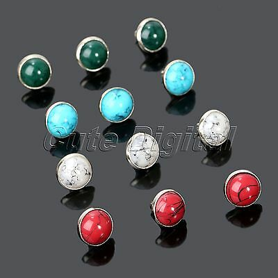 50Pcs Leather Craft Decorative Turquoise Rapid Rivets Studs Buttons Dia 8.5mm