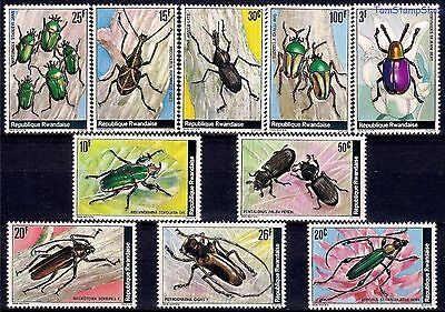 Rwanda 1978 Insects Beetles Chafers Nature Conservation  10v set MNH