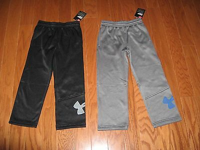 Under Armour BOYS ATHLETIC PANTS BLACK or GRAPHITE SIZE 2T/3T/4T/4 /5/6/7 NWT
