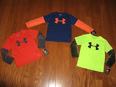 Under Armour Long Sleeve Shirt Boys Size 7/6/5/4  Nwt $29.99