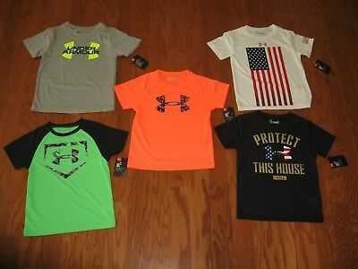 Under Armour Short Sleeve Shirt Boys Size 4/5/6/7/ysm Nwt