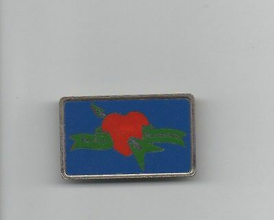 TOM PETTY & the HEARTBREAKERS LOGO SQUARE METAL LAPEL PIN * EXCELLENT & COLORFUL