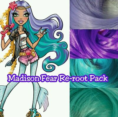 Monster High Madison Fear Custom Doll Re-root Pack Nylon Hair Color Blend Kit
