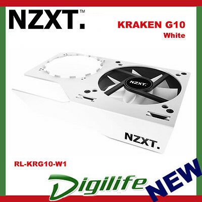 NZXT Kraken G10 Video Card Bracket Fan Cooler - White