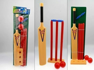 my junior cricket set bat and balls plastic safe full set