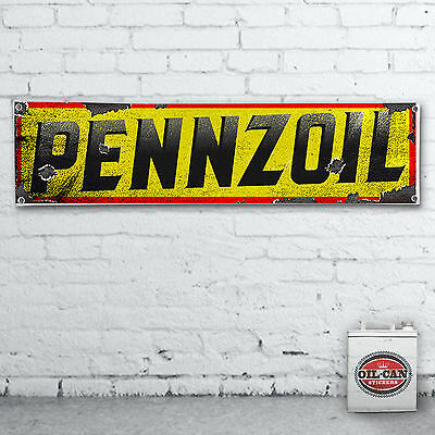 1700 X 430mm PENNZOIL Banner  –  heavy duty,  workshop, garage, man cave retro