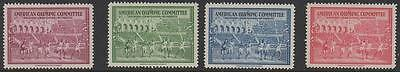 1940 Helsinki American Olympic Committee St Moritz Mnh Set Of Four Stamps