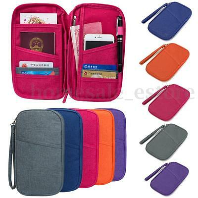 New Travel Passport Credit ID Card Cash Organizer Holder Wallet Purse Case Bag