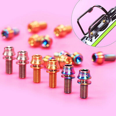 New Bike Screws M5*12mm Tapered Head Water Bottle Cage Bolts With Washer 4/6 PCs