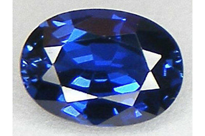 AAA Bright Lab Created Synthetic Blue Sapphire Faceted Oval 5x3mm - 22x16mm**