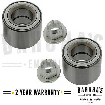Front X2 Wheel Bearing Kit+Nut For A Jaguar X Type 2.0 2.2 2.5 3.0 01>09 W/ Abs