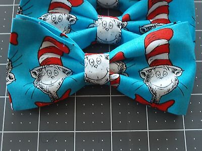 Homemade Mens/ Boys  Clip on Bow Tie ***Cat in the Hat ***