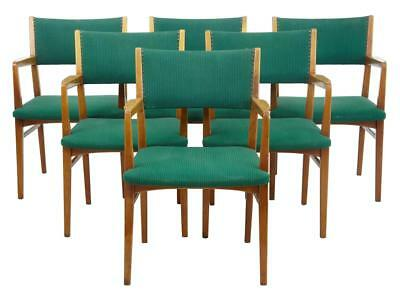 SET OF 6 SCANDINAVIAN MODERN 1960's ARMCHAIRS