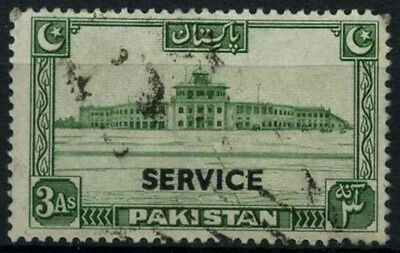 Pakistan 1948-54 SG#O20, 3a Green Official Optd Service Used #D30899