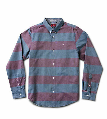 Fourstar Eric Koston Oxford long sleeved red/blue shirt -  Large