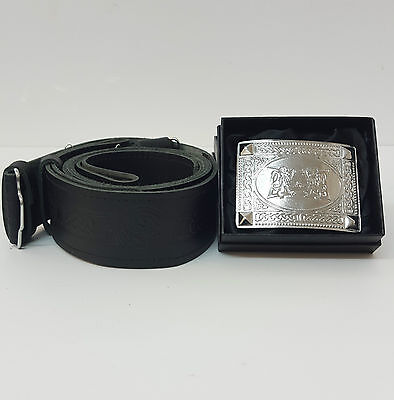 Thistle Embossed Kilt belt AND  Choice of six buckles less than 1/2 price £14.99