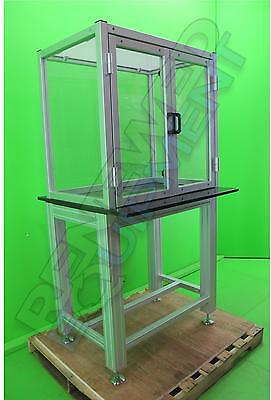 Clear Acrylic Table Top Hood scale balance Enclosure w/ Granite Topped Stand #2
