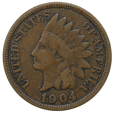 1904 Indian Head Cent Good Penny GD