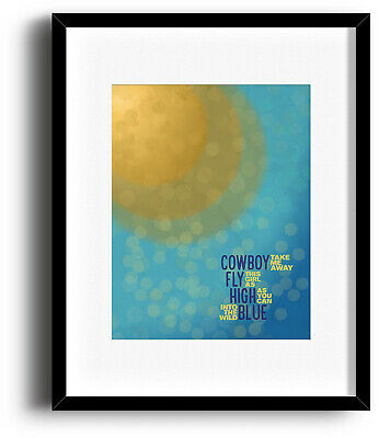 Dixie Chicks COWBOY TAKE ME AWAY Song Lyric Music Poster (PRINTS CANVAS PLAQUES)