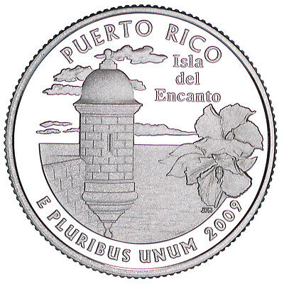 2009 S Territories Quarter Puerto Rico Gem Proof Deep Cameo CN-Clad Coin