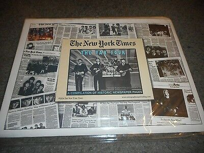The Beatles - N.y. Times Historic Newspaper Pages Recreations - Brand New/sealed