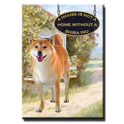 SHIBA INU House Is Not A Home MAGNET No 3 Steel Cased