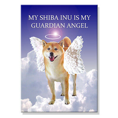 SHIBA INU Guardian Angel FRIDGE MAGNET No 3 Dog