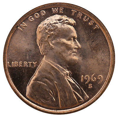 1969 S Lincoln Memorial Cent BU Penny US Coin