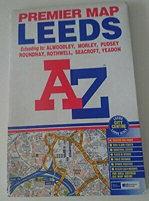 Premier Map of Leeds (Premier Maps) by Geographers A-Z Map Company Paperback The