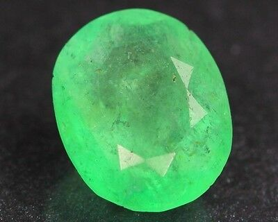 Rare Natural Neon Spring Green Colombian EMERALD Gemstone