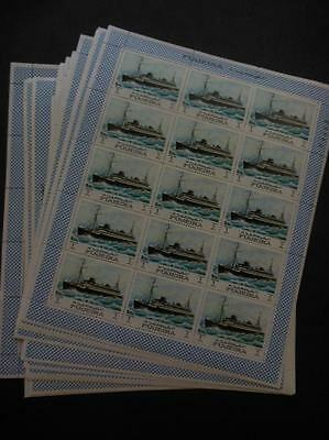 FUJEIRA : Ships. 45 Complete sets in Full Sheetlets. All Very Fine, Mint NH.