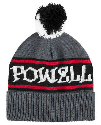 POWELL PERALTA - Pom Pom Knit Beanie Grey - NEW