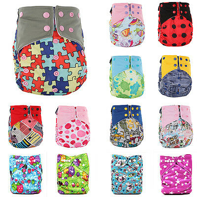 Adjustable Cute Baby Washable Nappy Reusable Cloth Diaper Nappies Cover Wrap