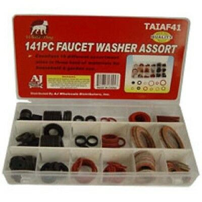141pc Faucet Washers Assortment with Organizer 18 Sizes Sink Washer Set TAIAF41