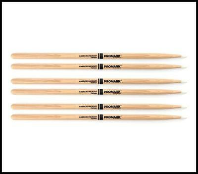 3 Pairs ProMark TX7AN American Hickory Nylon Tip 7AN Pro Mark Drumsticks 7A