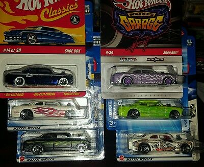 Hot Wheels Shoe Box 6 Of