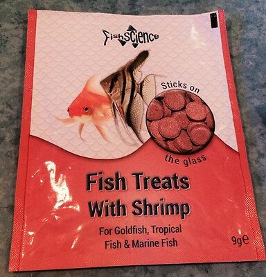 Fishscience Fish Treats Stick On Glass Tablets With Shrimp & Garlic Fish Science