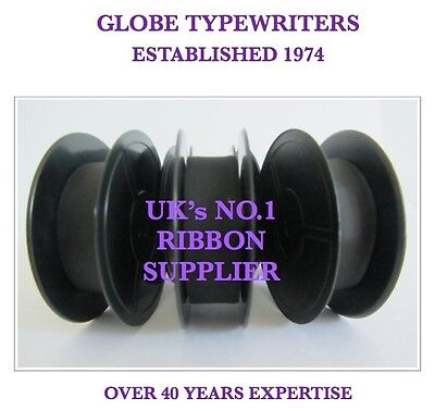 3 x 'DELUXE 850TR' *PURPLE* TOP QUALITY *10 METRE* TYPEWRITER RIBBONS +*EYELETS*