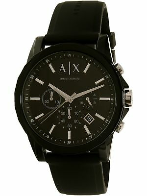 Armani Exchange Men's AX1326 Black Silicone Quartz Watch