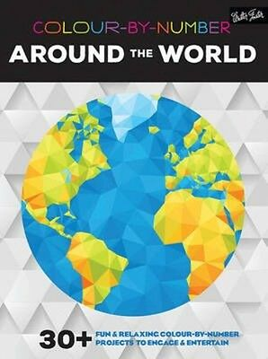 Colour-by-number: Around the World by Walter Foster Paperback Book