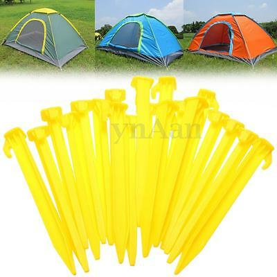 20Pcs Yellow ABS Plastic Awning Caravan Tent Pegs 5.5'' Spike Camping Accessory