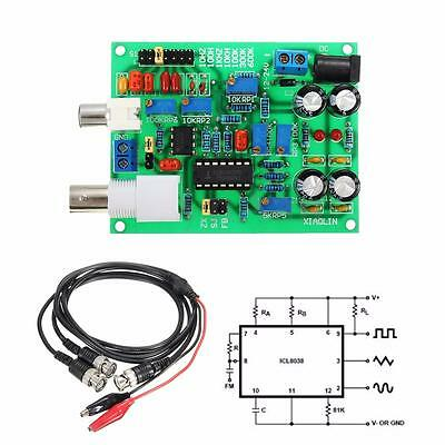 ICL8038 DDS Signal Generator Module Sine Square Triangle Wave BNC DIY Kit Cable