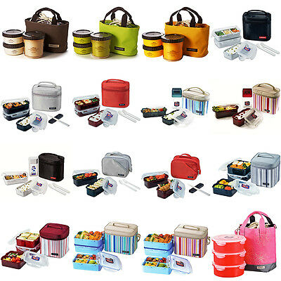 LOCK AND LOCK Insulated Thermal Lunch Box Portable Picnic Storage